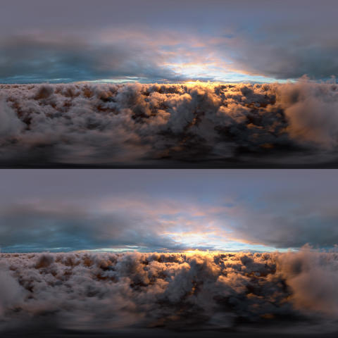 Sunset Clouds Stereoscopic Panoramic 360 VR VR 360° Video