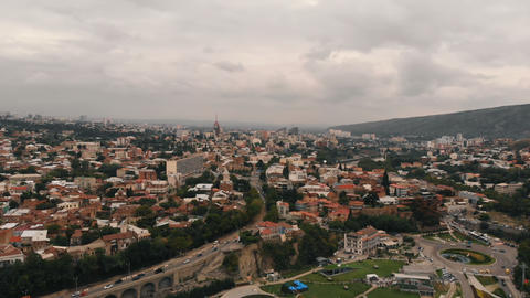 Cityscape of Gergia, Tbilisi - aerial shot Live Action