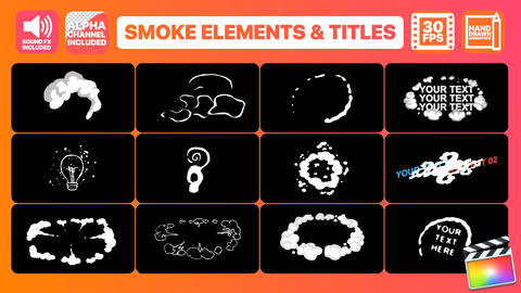 Flash FX Smoke Elements And Titles Apple Motion Template