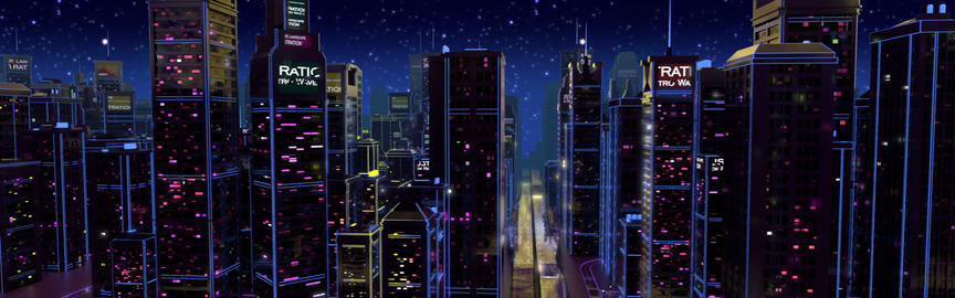 Retro Futuristic 80's City Stage Animation