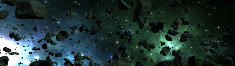 Asteroids And Meteorites In Space Animation