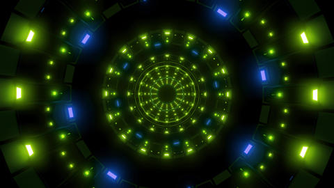 rotating nice glowing lights vj loop visual background 3d illustration Animation