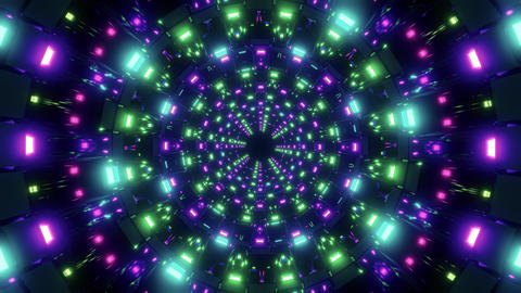 rotating nice glowing lights vj loop visual background 3d… Stock Video Footage