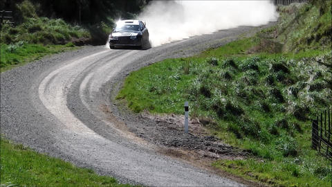Rally car zoom out Footage