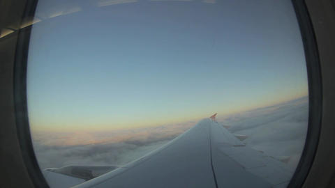 Airplane flies above the cloud Footage