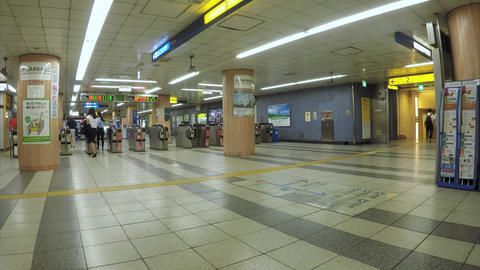 Wicket. Yokohama Station, Yokohama Municipal Subway Footage