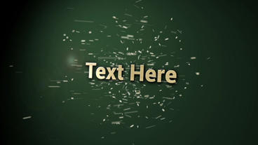 Flying Particles Text After Effects Template