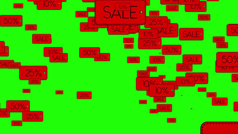 sale banners on green screen Animation