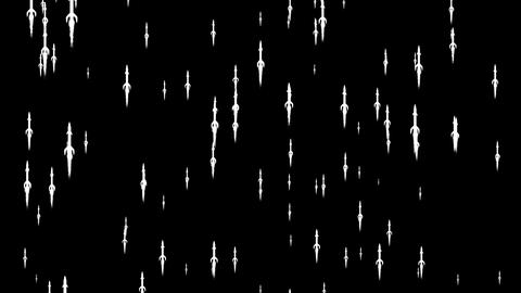silhouettes of missiles flies away Animation