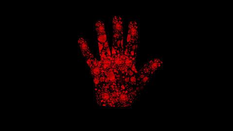 futuristic red hand Animation