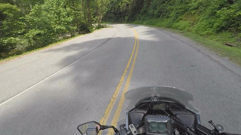 Motorcycle in Tennessee Mountains (Rider's Prospective): Ver #5 Footage