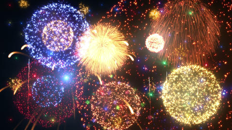Fireworks Festival 3 A1 4k Animation