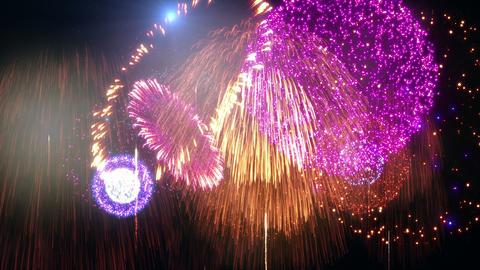 Fireworks Festival 3 C1op 4k Animation