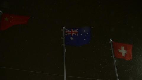 Chinese Australian And Swiss Flag Image