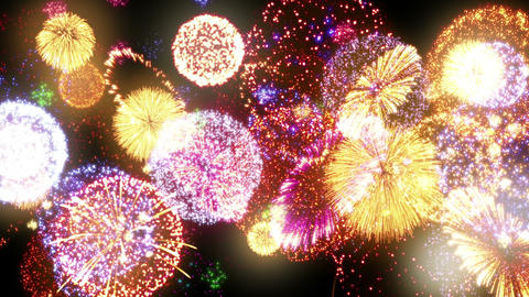 Fireworks Festival 3 En1s 4k Animation