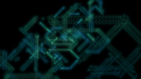 Glowing abstract streaking geometric formations seamless loop Animation