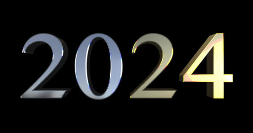 From 2000 To 2040 - Golden And Silver Numbers GIF