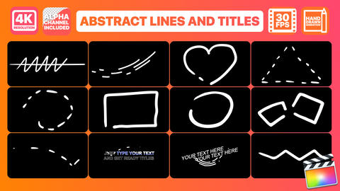 Abstract Lines And Titles Apple Motion Template