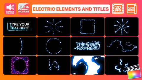Electric Elements And Titles Apple Motion Template