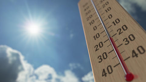 Outdoor thermometer reaches 10 ten degrees centigrade. Weather forecast related Live Action