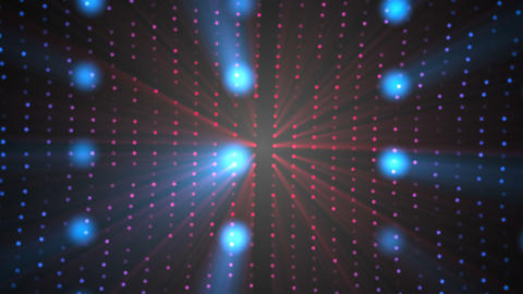 VJ space light particles in black space - modern abstraction for nightlife style Live Action
