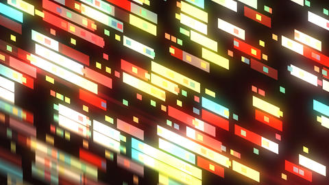 Abstract technology with many rectangles background, surface with reflection, 3d Live Action
