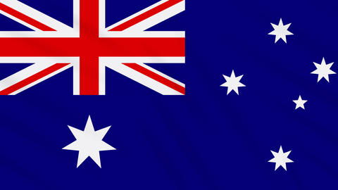 Australia flag waving cloth background, loop Animation