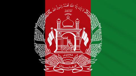 Afghanistan flag waving cloth background, loop Animation