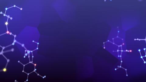 Molecular structure Dv2 LED neon dark 4k Animation