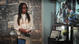 Black female director tearing up business contract after watched video on big Footage