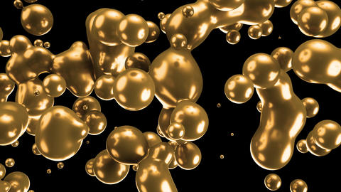 Gold Motion green minimal art liquid background Live-Action