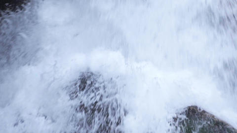 Close up slow motion view of waterfall. slowmo Live Action