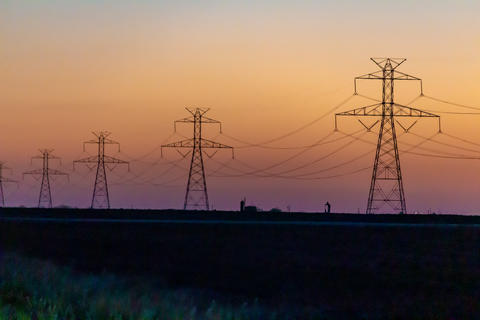 West Texas Sunset Electrical Transmission -101 Photo