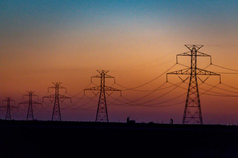 West Texas Sunset Electrical Transmission -200 Photo