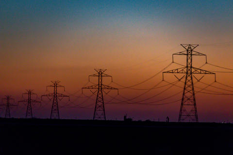 West Texas Sunset Electrical Transmission -201 Photo