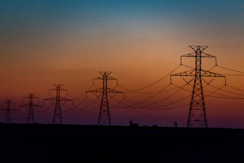 West Texas Sunset Electrical Transmission -202 Photo