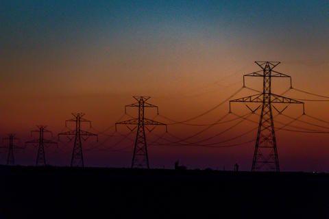 West Texas Sunset Electrical Transmission -203 Photo