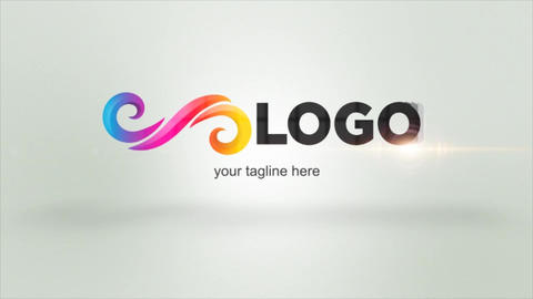 Structured Bright Logo Reveal After Effects Template