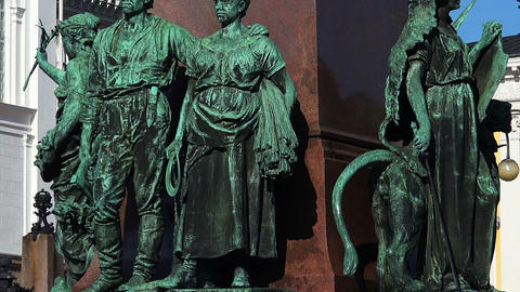 Detail of the monument to Alexander II in Helsinki Footage