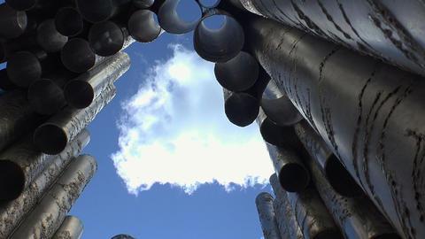 Jan Sibelius monument in Helsinki. Organ Footage