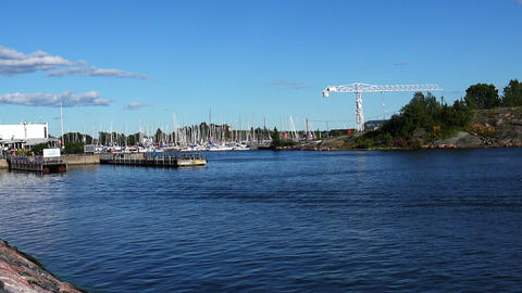 The harbor, the port in Helsinki ビデオ