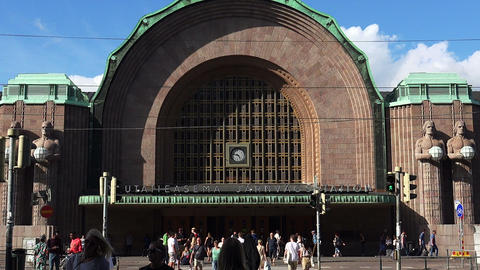 Railway station in Helsinki Live Action