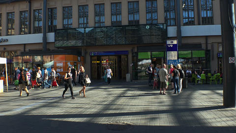 Railway station in Helsinki Footage