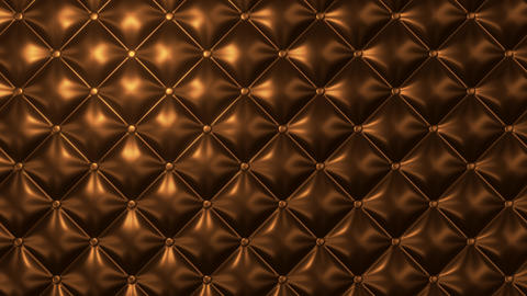 Diamond buttoned upholstery background with light motion Animation