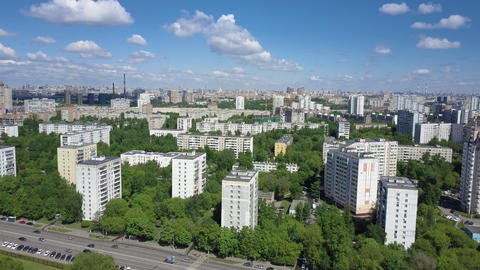 Residental district with lots of green trees Archivo