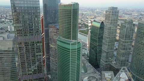 A birds eye view of glass skyscrapers Archivo