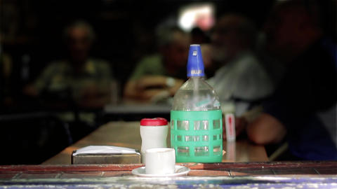 Old Bottle Of Soda In A Bar In Buenos Aires Footage