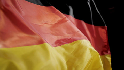 Germany flag waving slow motion Live Action