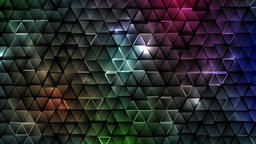 Dark colorful abstract tech triangles video animation Animation