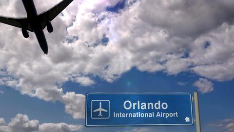 Airplane landing at Orlando Florida Live Action